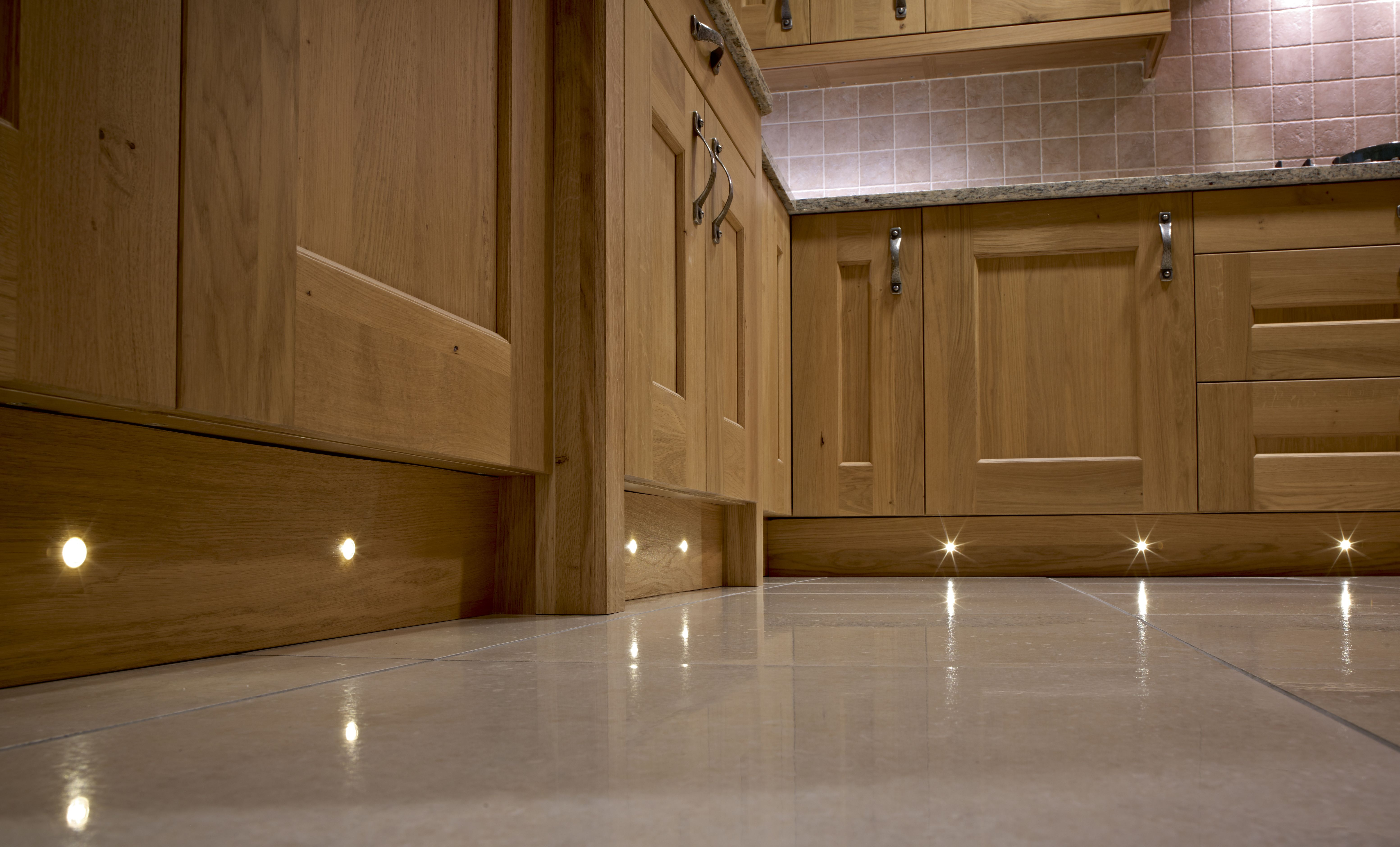 Beautiful Warm White Plinth Lighting In A Traditional Kitchen By - Kitchen plinth lights white