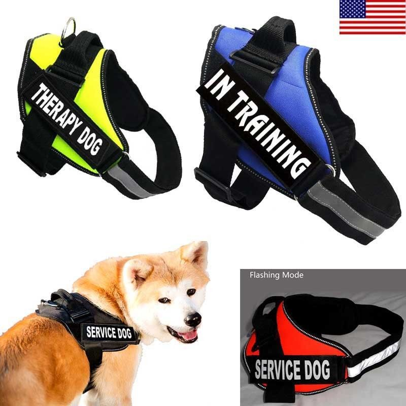 Reflective Service Dog Harness Vest Coat Nylon Therapy With