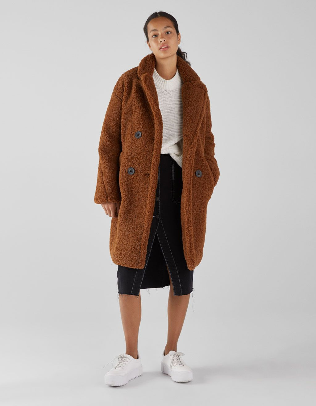 Teddy Jas.Lange Double Breasted Teddy Jas Outfitjes In 2019 Faux Shearling