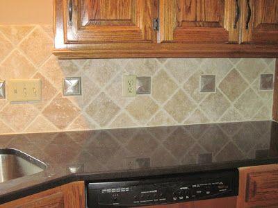 Drennon S Custom Tile Travertine Backsplash Diamond Pattern Travertine Backsplash Travertine Tile Backsplash Travertine Backsplash Kitchen