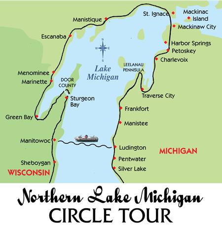 Lake Michigan Circle Tour Explore And Travel Pinterest Lake - Lake michigan circle tour map