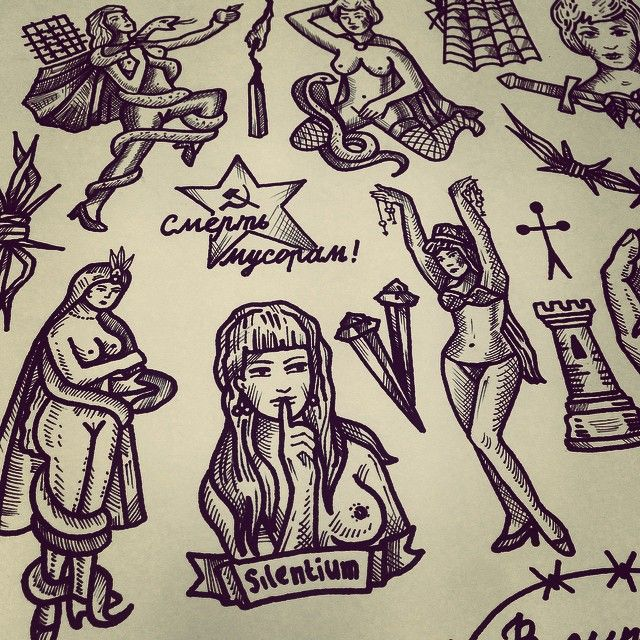 70 Tough Prison Tattoo Designs Meanings: Tattoo Design Drawings, Tattoos