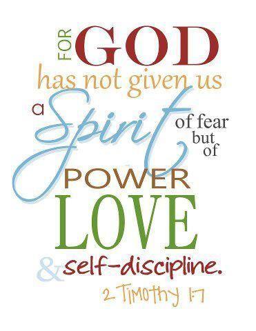 Jesus Power Of Love Sunday School Spirit Of Fear Bible Verse