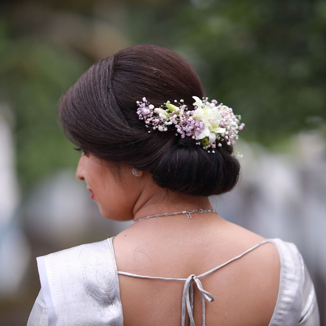 Brides Of Kerala On Instagram Merin Mathew To Get Featured Send Your Photos To Bridal Hairdo Christian Bride Hairstyles Kerala