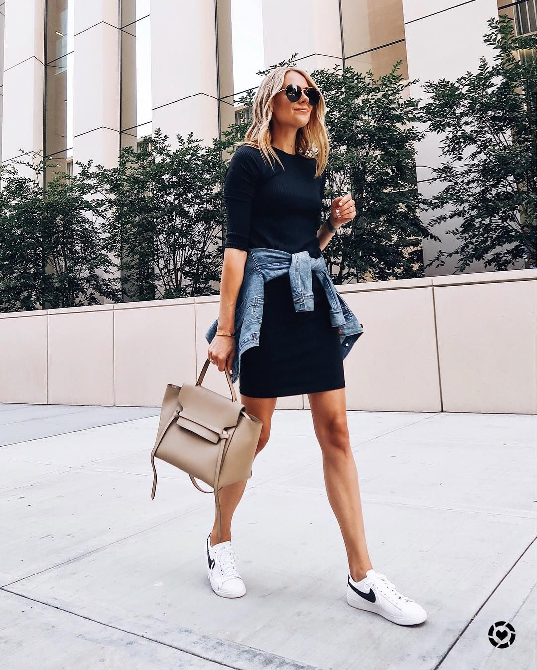 7 Chic Ways To Style Sneakers The Everygirl Dress And Sneakers Outfit Fashion Jackson Fashion [ 1347 x 1080 Pixel ]