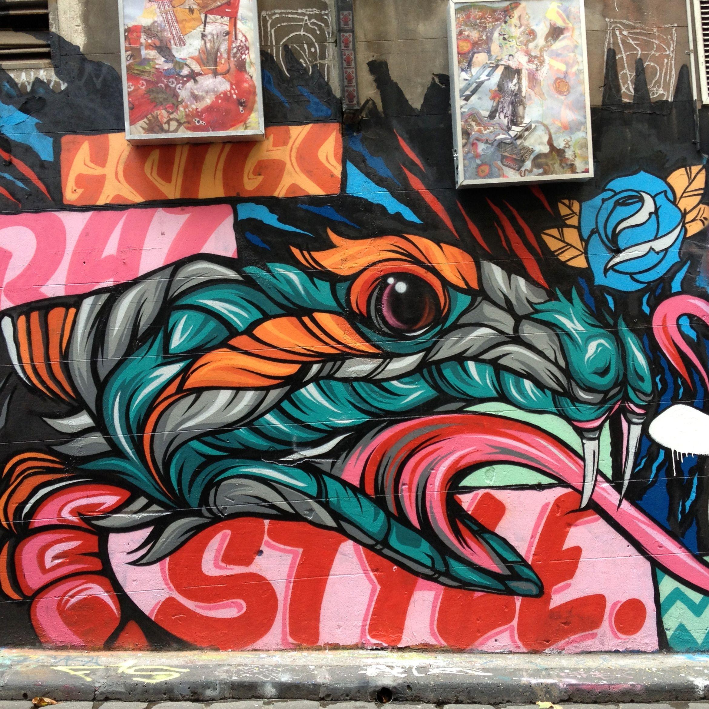 Hosier Lane Melbourne street art graffiti Arte graffiti