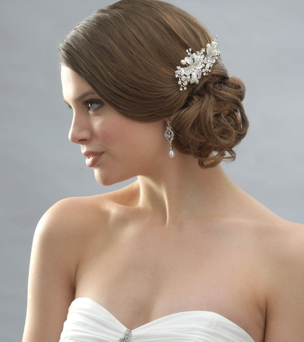 Amazon USABride Side Bridal Comb Wedding Hairpiece with