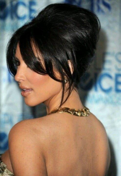 Kim Kardashian Red Carpet Updo Hairstyle Kardashians Jenners