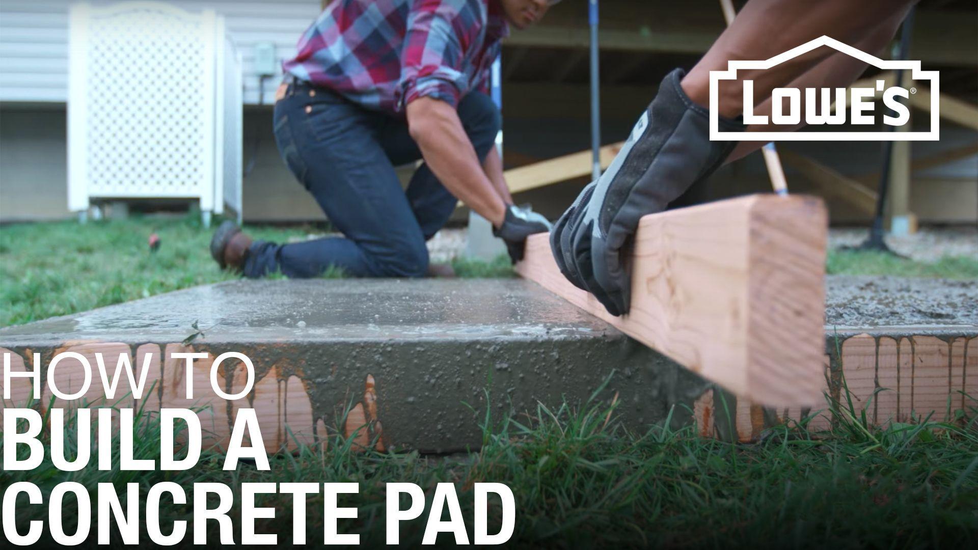 How To Build A Concrete Pad In 2020 Concrete Pad Diy Concrete Patio Concrete