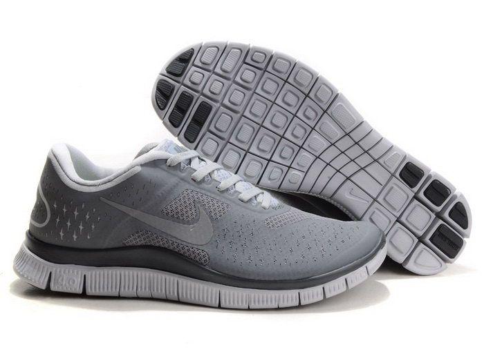 huge selection of 47134 cf6ac Discount Mens Nike Free 4.0 V2 Grey White Black Running ...