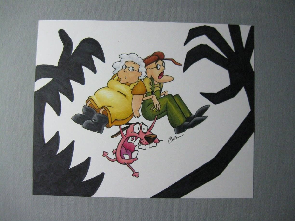 Courage The Cowardly Dog 8x10 Copic Markers Colleen Paint In