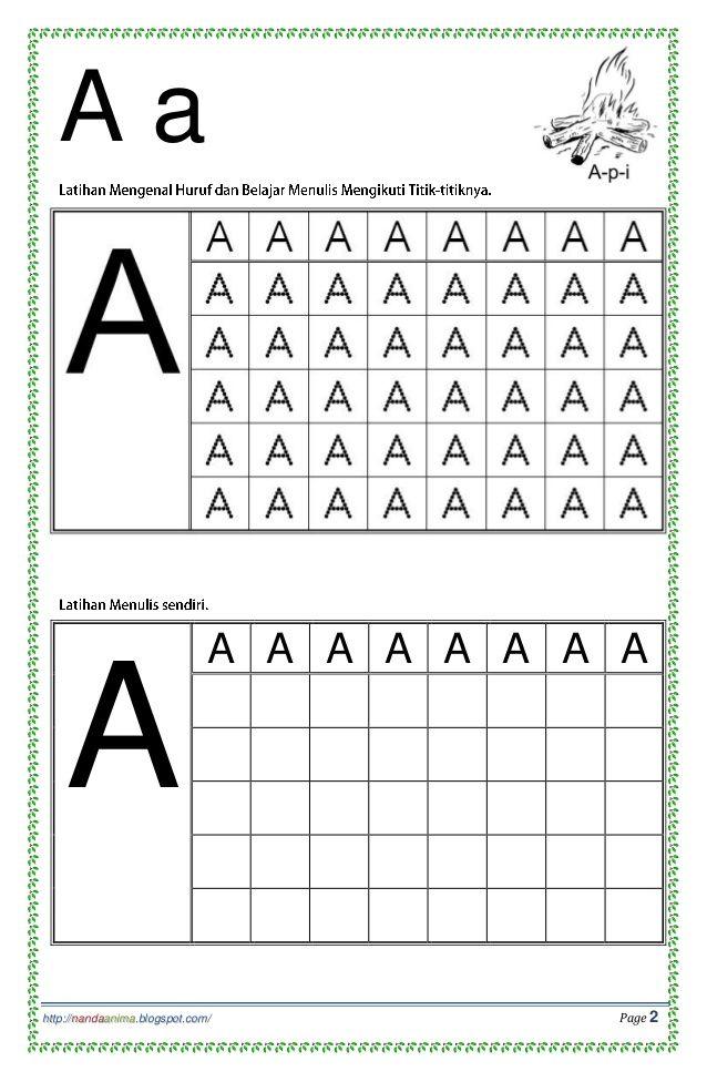 Belajar Mengenal Dan Menulis Huruf Abc Kindergarten Reading Worksheets Abc Worksheets Homeschool Learning