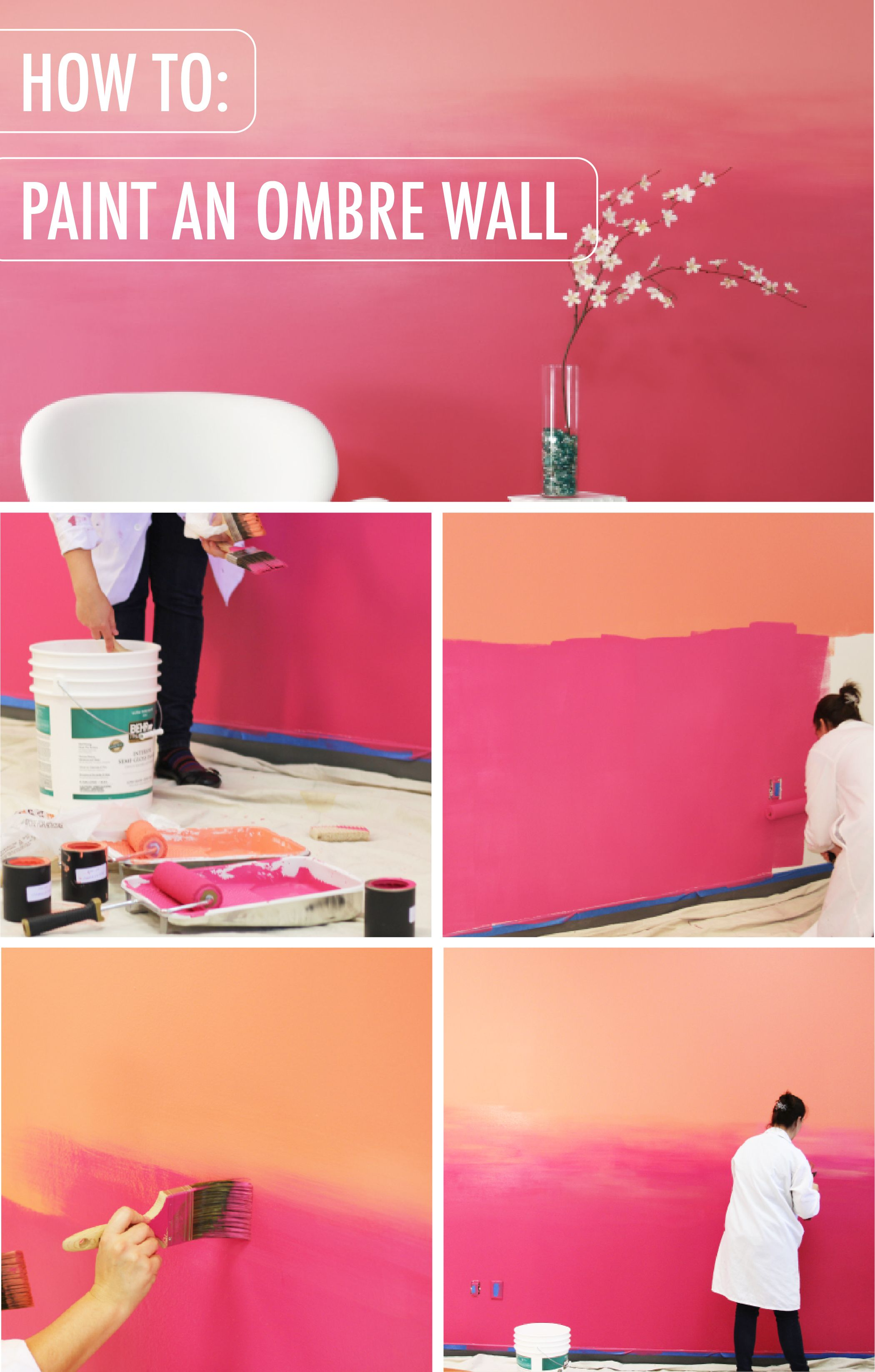 How to paint an ombre wall diy diy wall painting - What do you need to paint a room ...