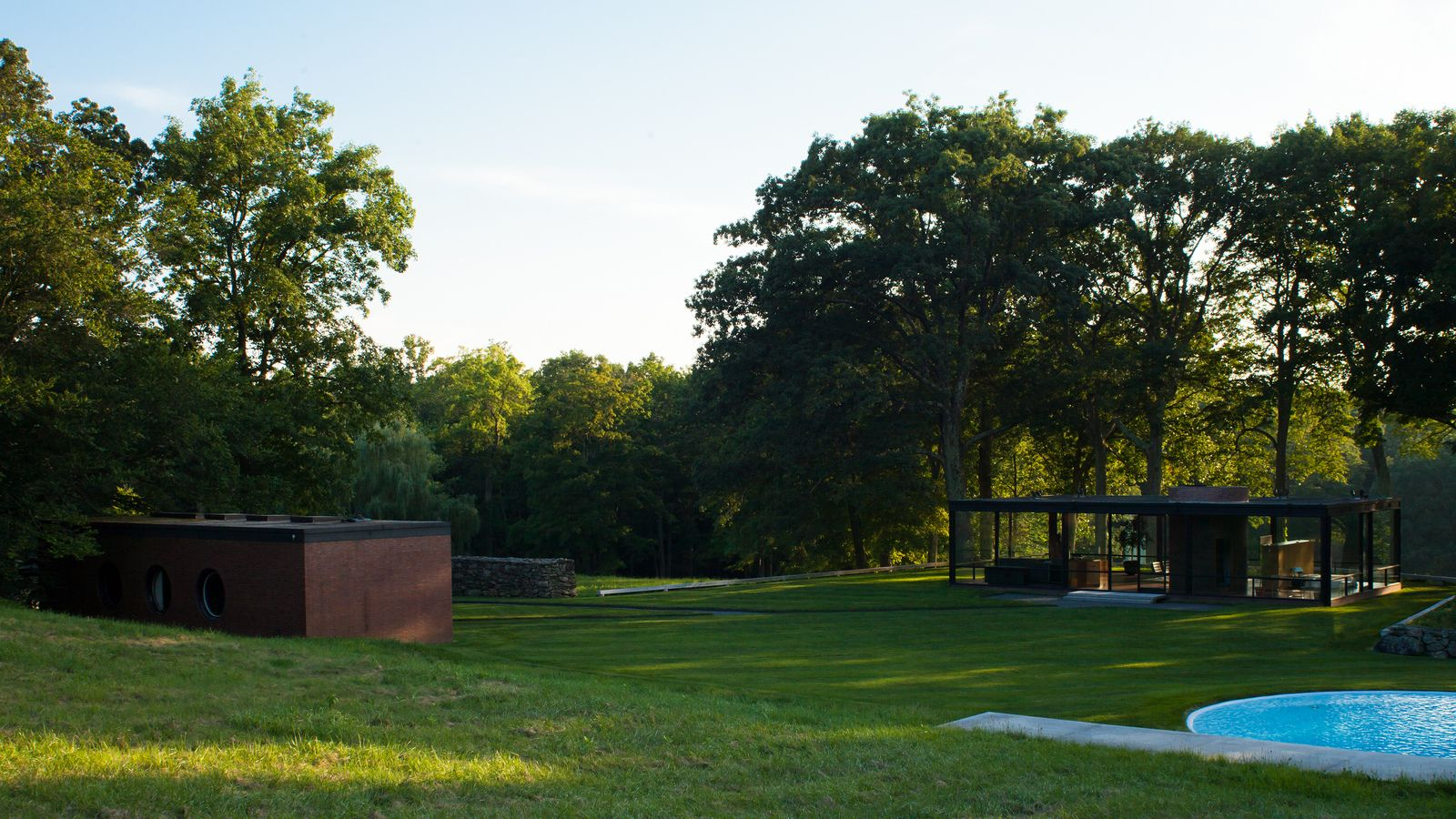 new canaan - glass house by Addison Godel