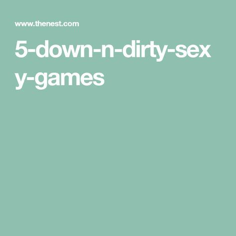 Dirty Sex Games