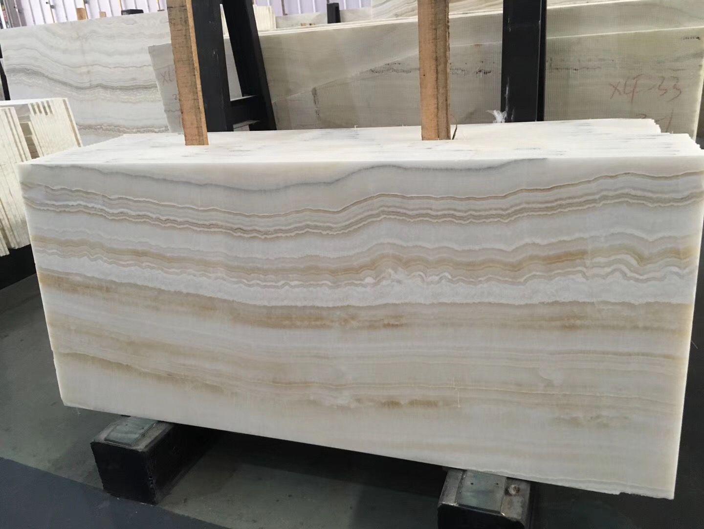 White Ice Onyx Kitchen Contemporary Kitchen Countertops