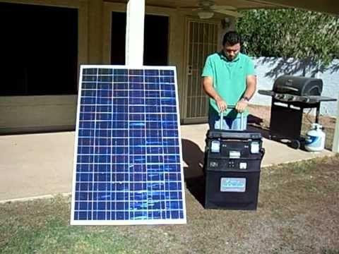 Portable Solar Generator No Gas No Fumes No Noise Portable