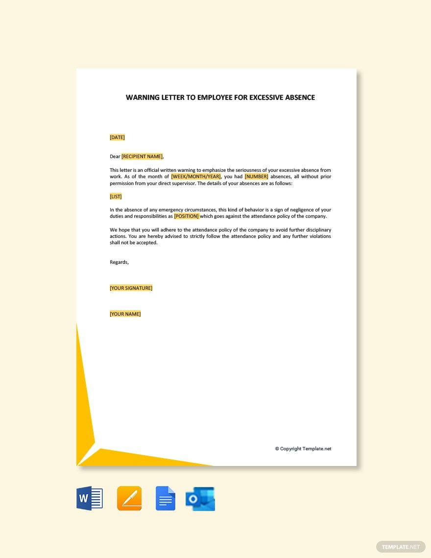 Explore Our Image Of Final Warning Letter For Lateness For Free Formal Letter Writing Lettering Types Of Business Letter