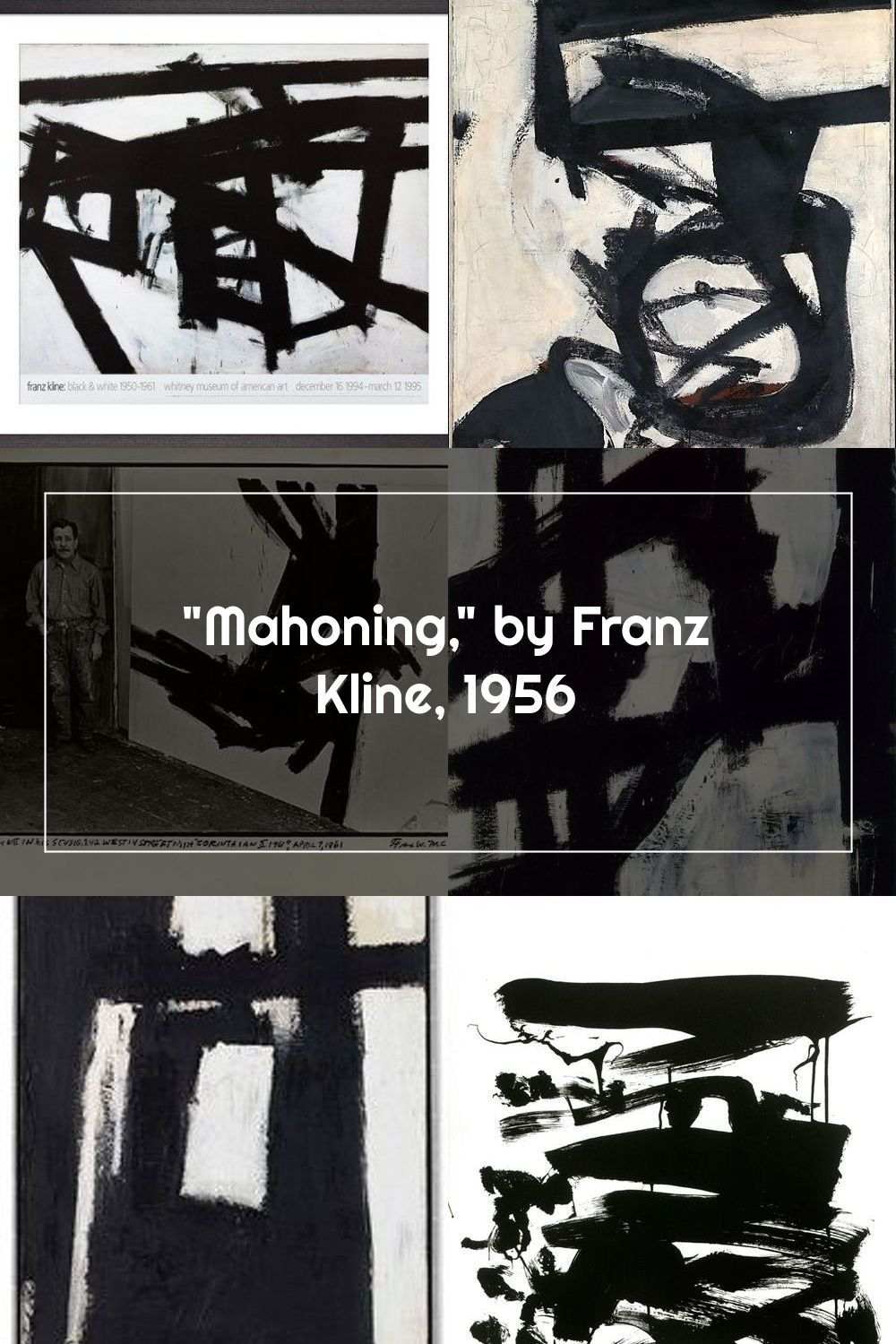 Mahoning By Franz Kline 1956 Acrylic Painting Lessons Landscape Paintings Acrylic Oil Painting Tutorial