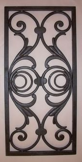 Wrought Iron for shutter repurpose