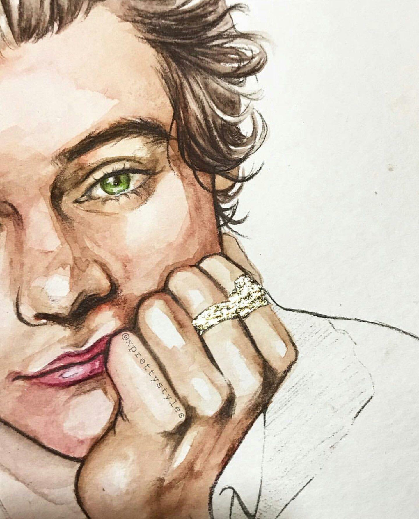 Pin De Lucia Lazaro Gomez En 1d Art Dibujos De Famosos Dibujos De One Direction Arte De Sueños