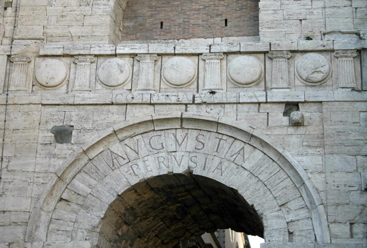 Arco Etrusco Particolare Perugia Un Entrata Da Etruschi Su