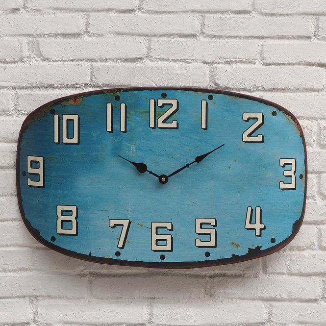 Check Out Weathered Urban Farmhouse Wall Clock From Shades