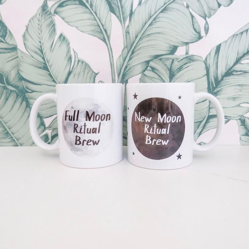 Full Moon / New Moon Ritual Mug Set #fullmoonquotes