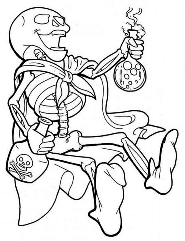 Skeleton And Strong Poison Coloring Page Kids Play Color Coloring Pages Pirate Coloring Pages Coloring Pictures