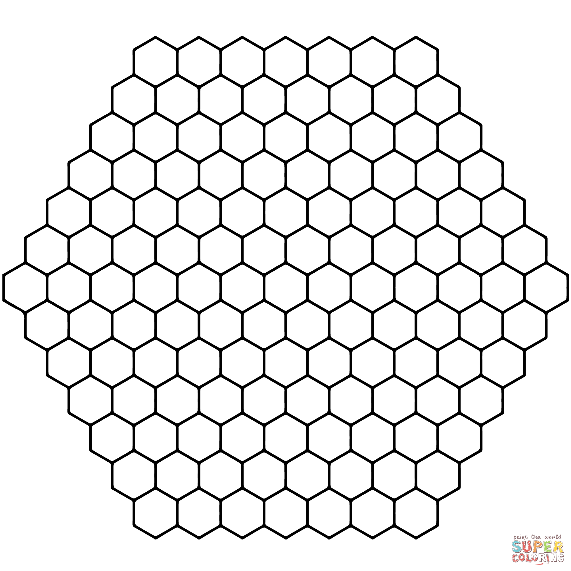 Six Honeycomb Tesselations Tessellation Patterns Coloring Pages Free Coloring Pages