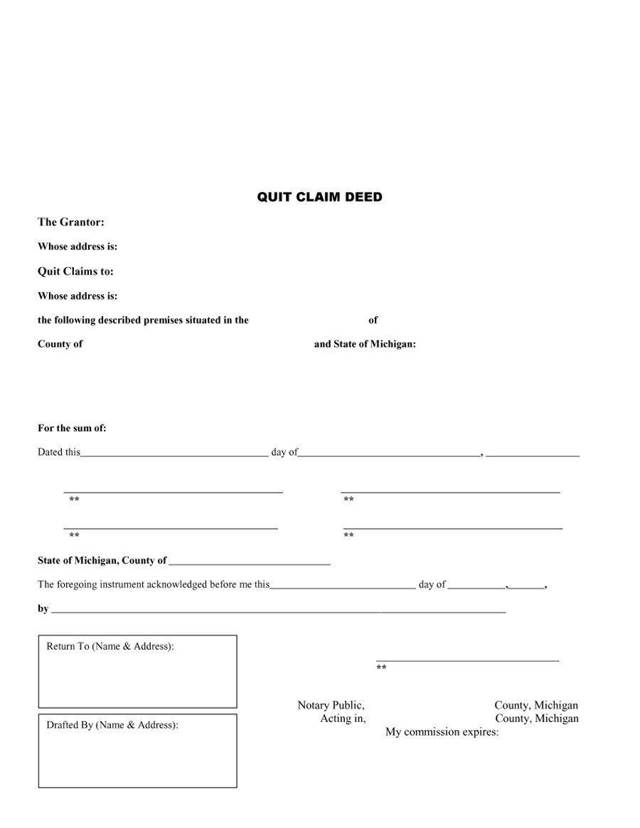 28 Quitclaim Deed Forms Free In 2020 Quitclaim Deed Online Form