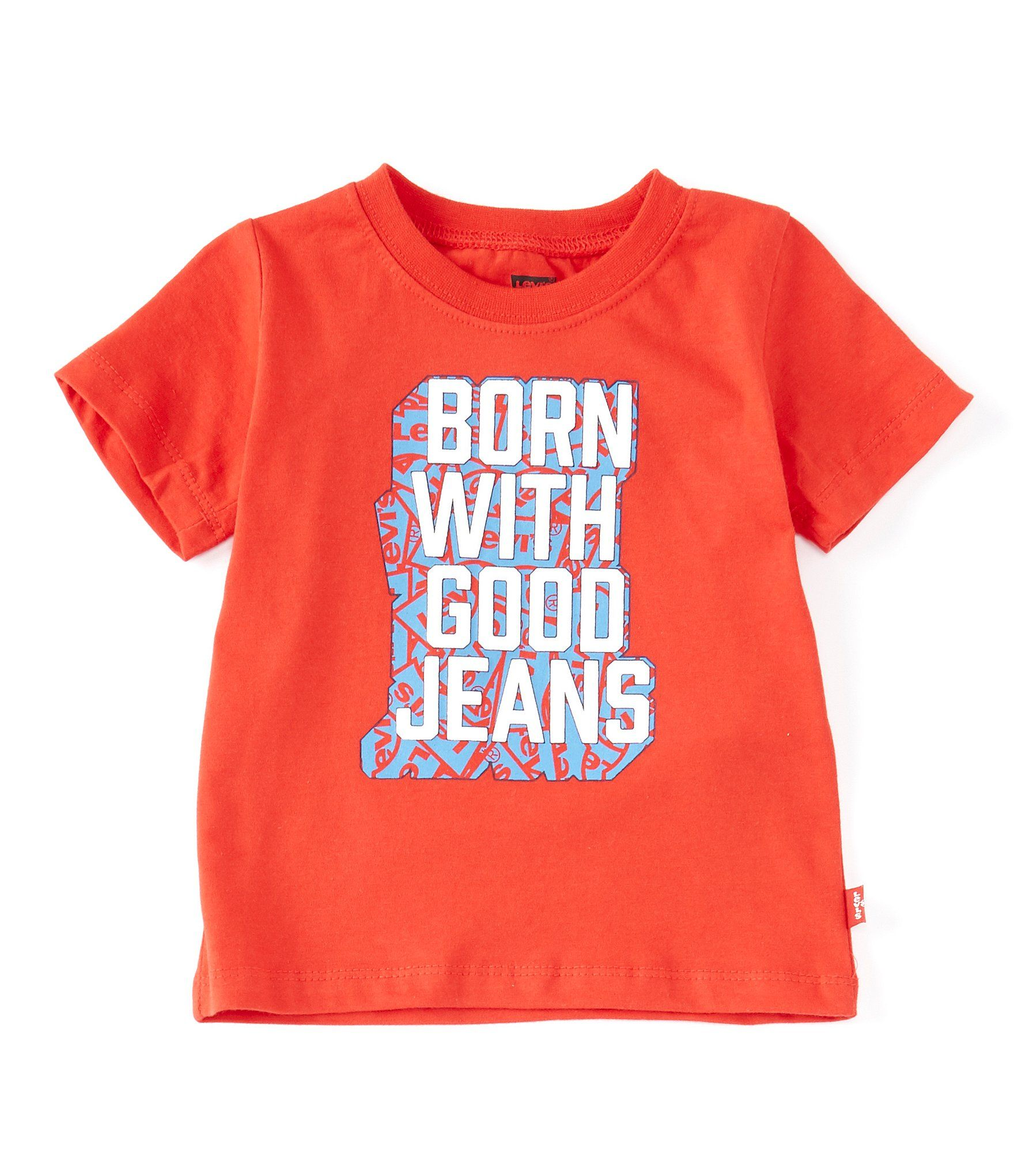 Photo of Levi's® Baby Boys 12-24 Months Short-Sleeve Born With Good Jeans Graphic Tee | Dillard's