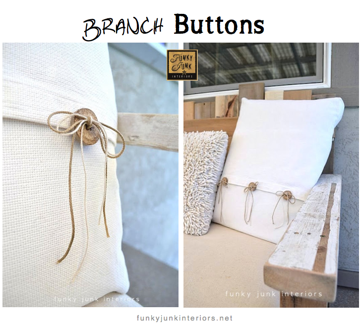 branch buttons - so easy! via Funky Junk Interiors
