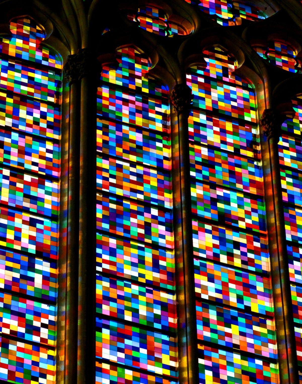 Gerhard Richter Kolner Domfenster Cologne Cathedral Window 2007 11 000 Hand Blown Glass Panels Gerhard Richter Gerhard Richter Abstract Fused Glass Art