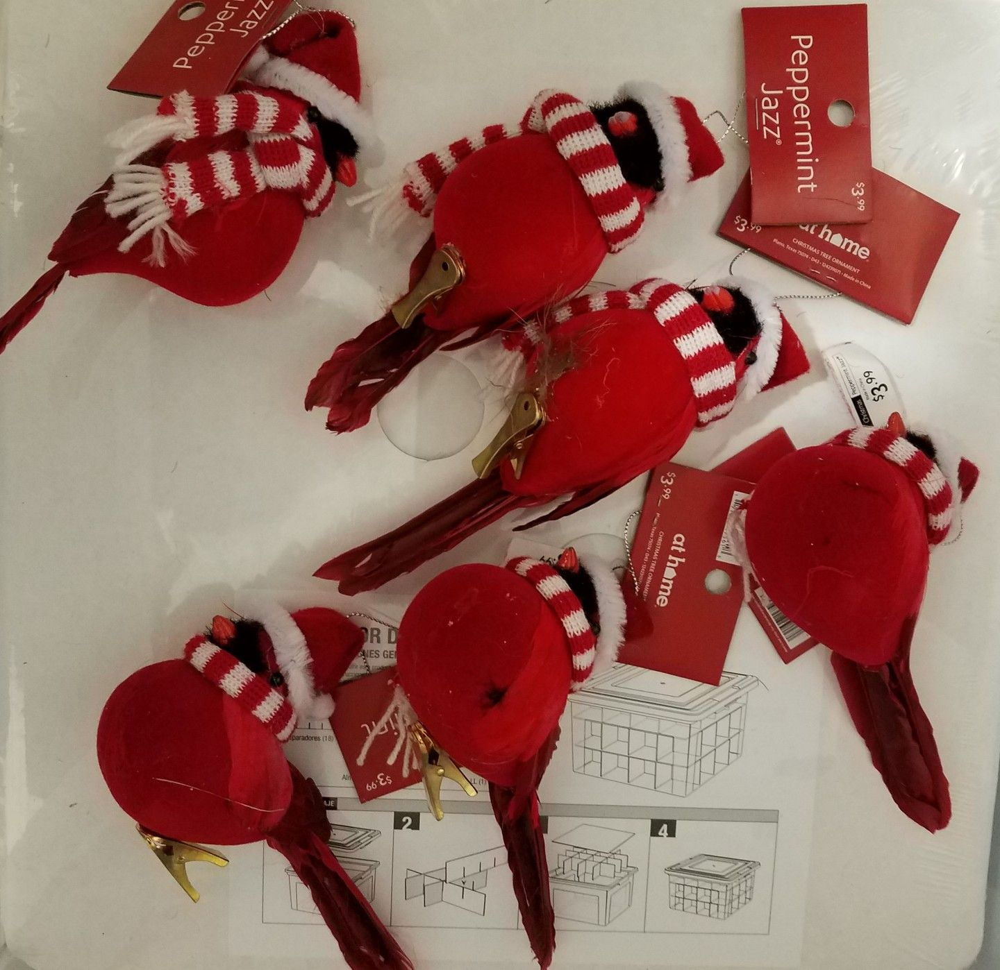 Red Cardinals with Scarfs and Hats (Have 6) Christmas