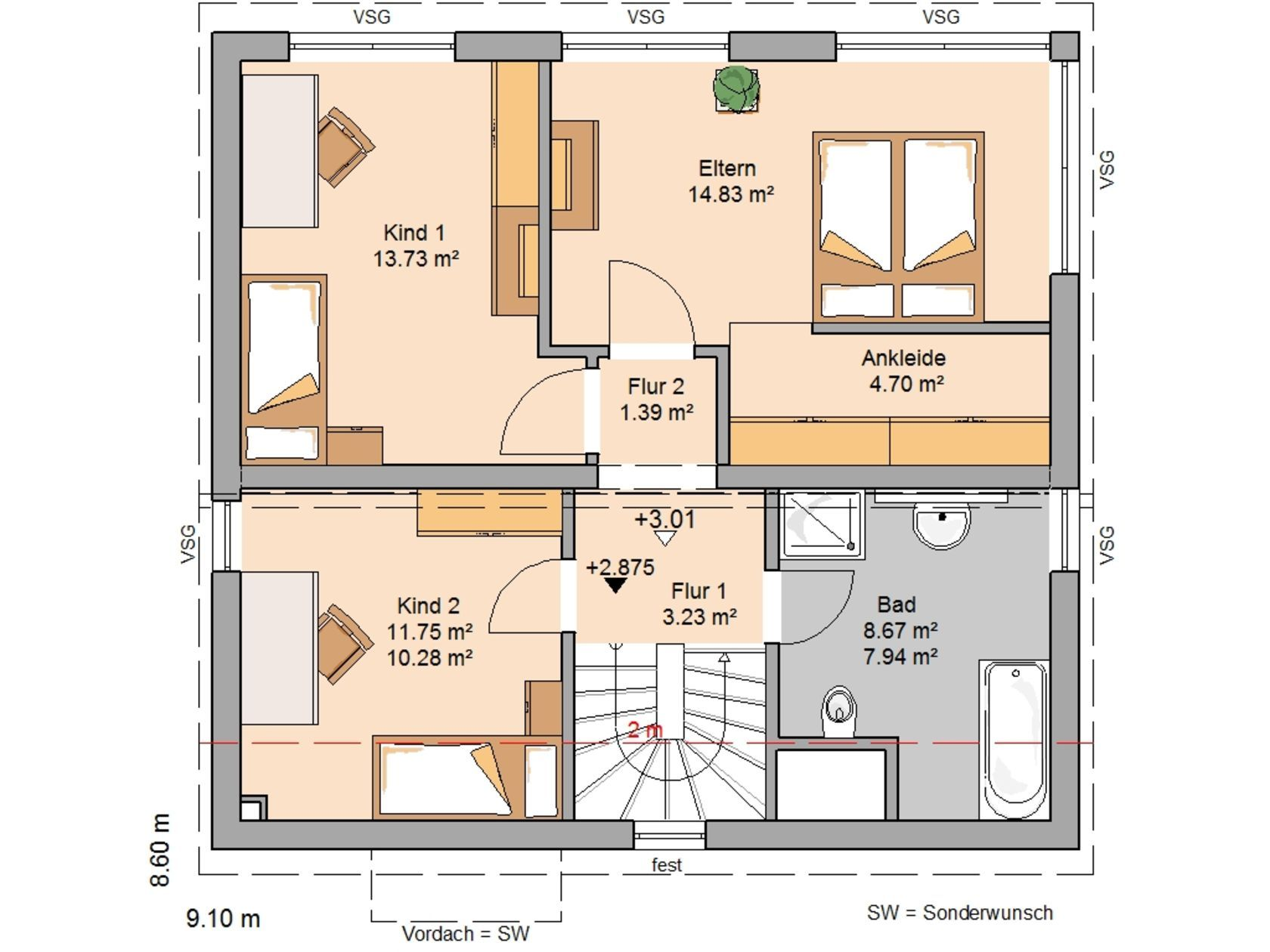 Perfect Explore Plans And More! Kern Haus Familienhaus Vision Plus Grundriss  Dachgeschoss