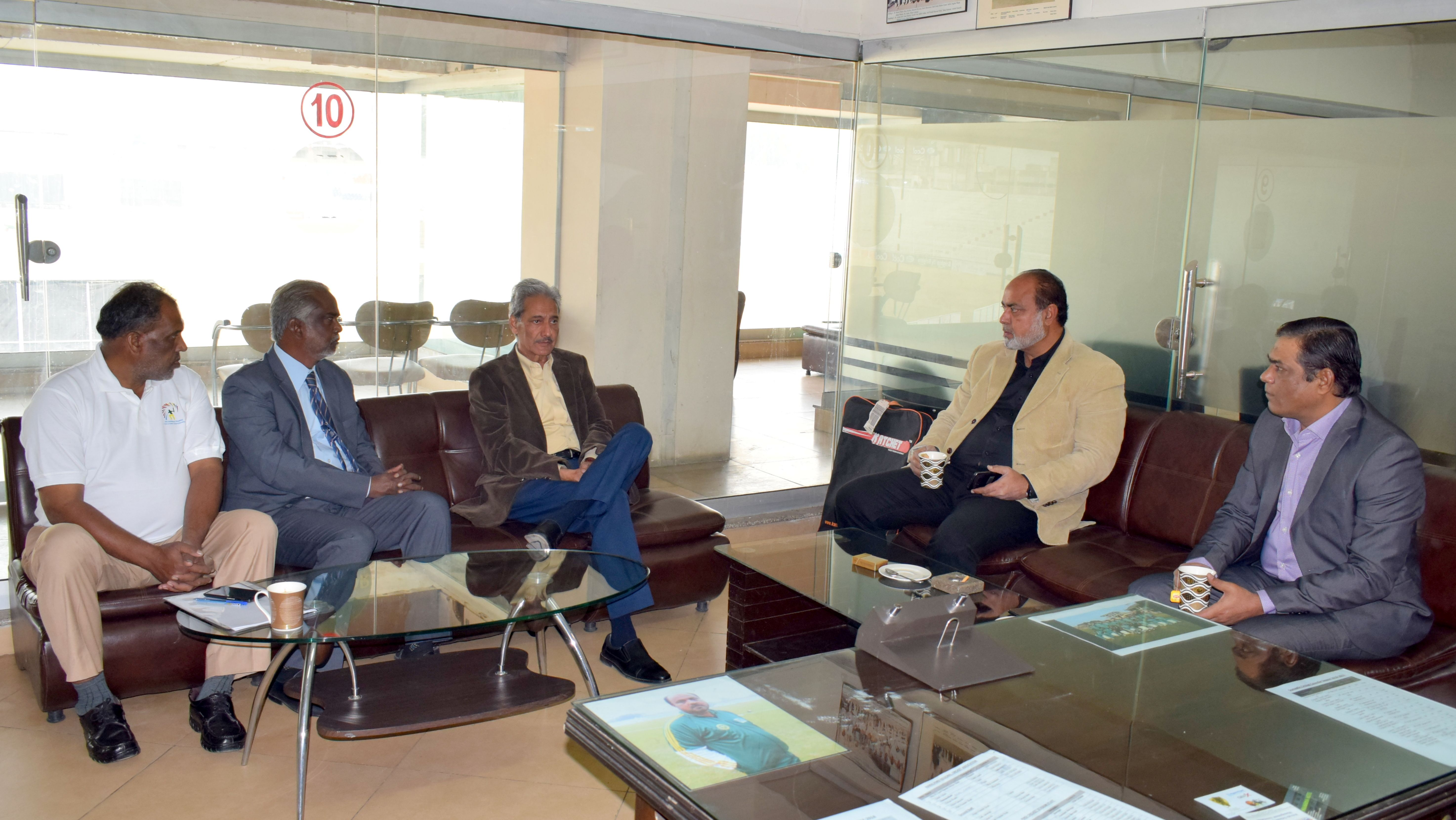 Meeting with PCB Official and PDCA Officials at Rawalpindi Cricket ...