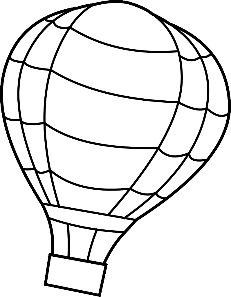hot air balloon coloring pages free large images