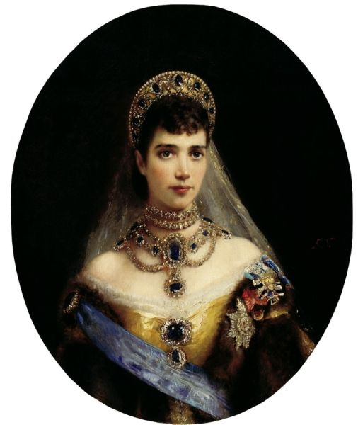 MAKOVSKY Constantin - Portrait of Empress Maria Feodorovna, wife of Alexander III