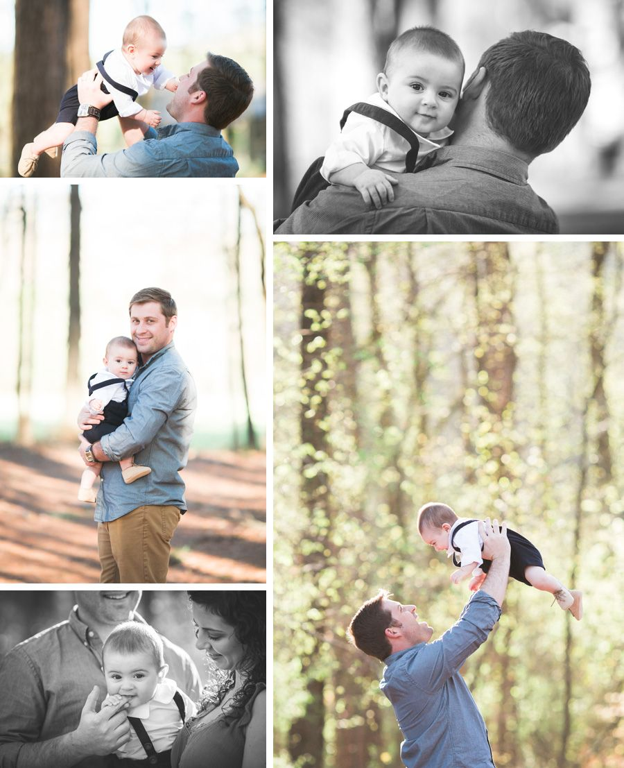 Six month baby boy and daddy chattanooga family photographer sweet caroline photographie