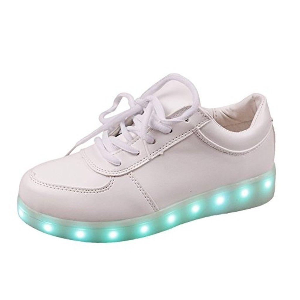 Chaussure Lumineuse LED pour Enfant Adulte Mixte 7 Couleu USB rechargeable de Sports Baskets nnOY3RVC