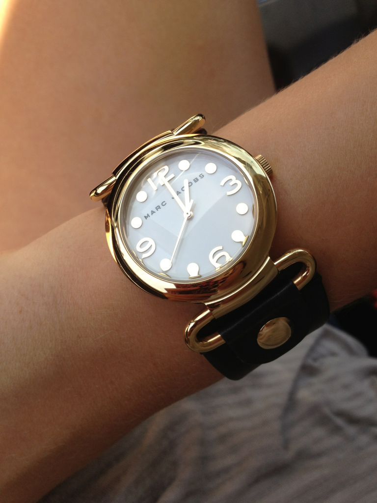 Perfect black and gold marc jacobs watch