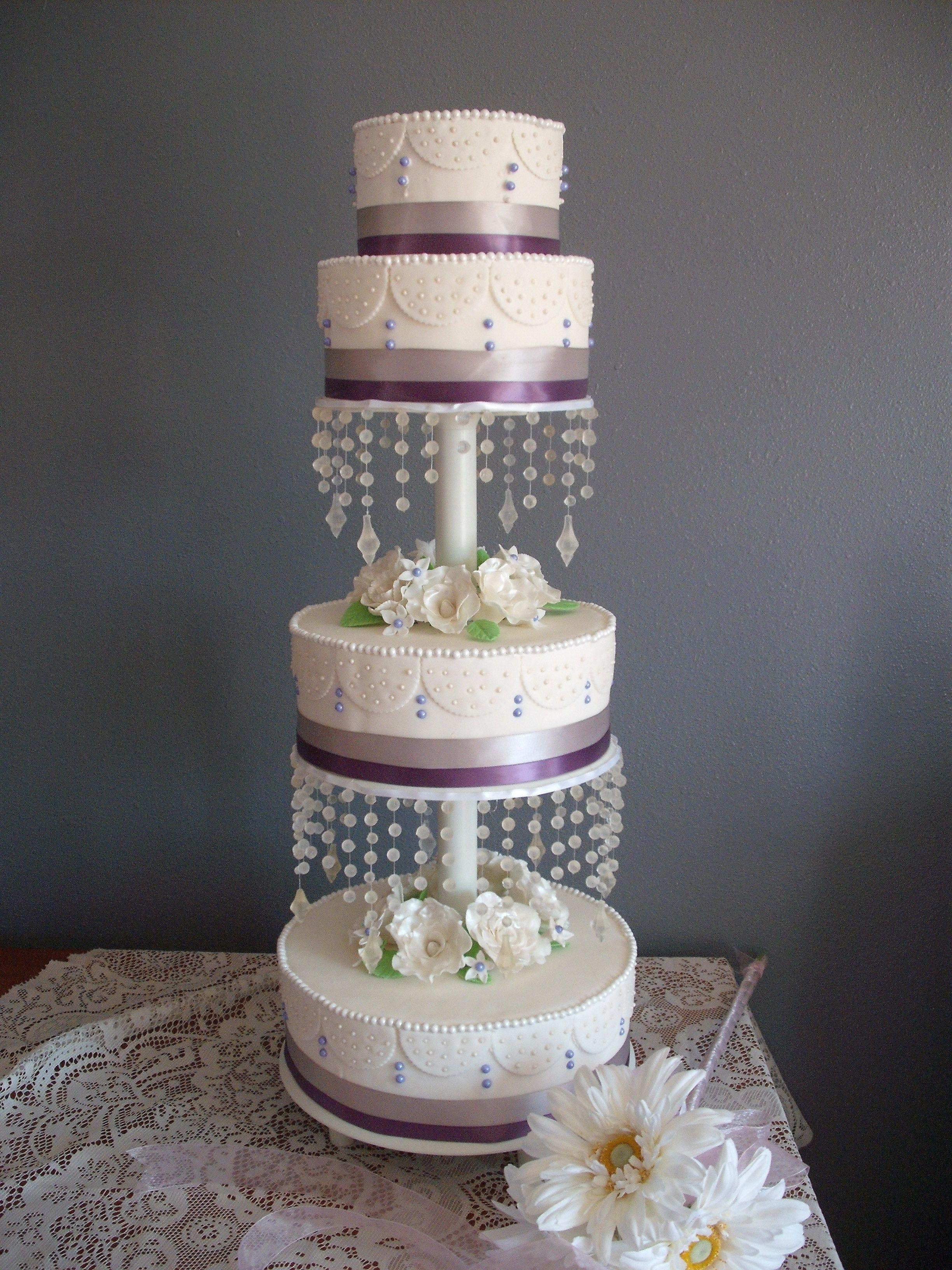 wedding cake w edible sugar beads carseycakes pinterest salt lake city ut cake wedding. Black Bedroom Furniture Sets. Home Design Ideas