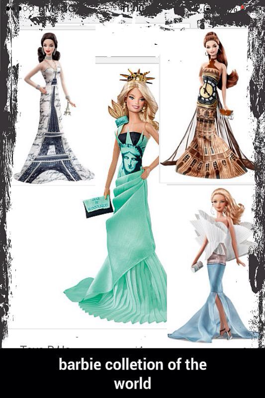 Barbie collection of the word