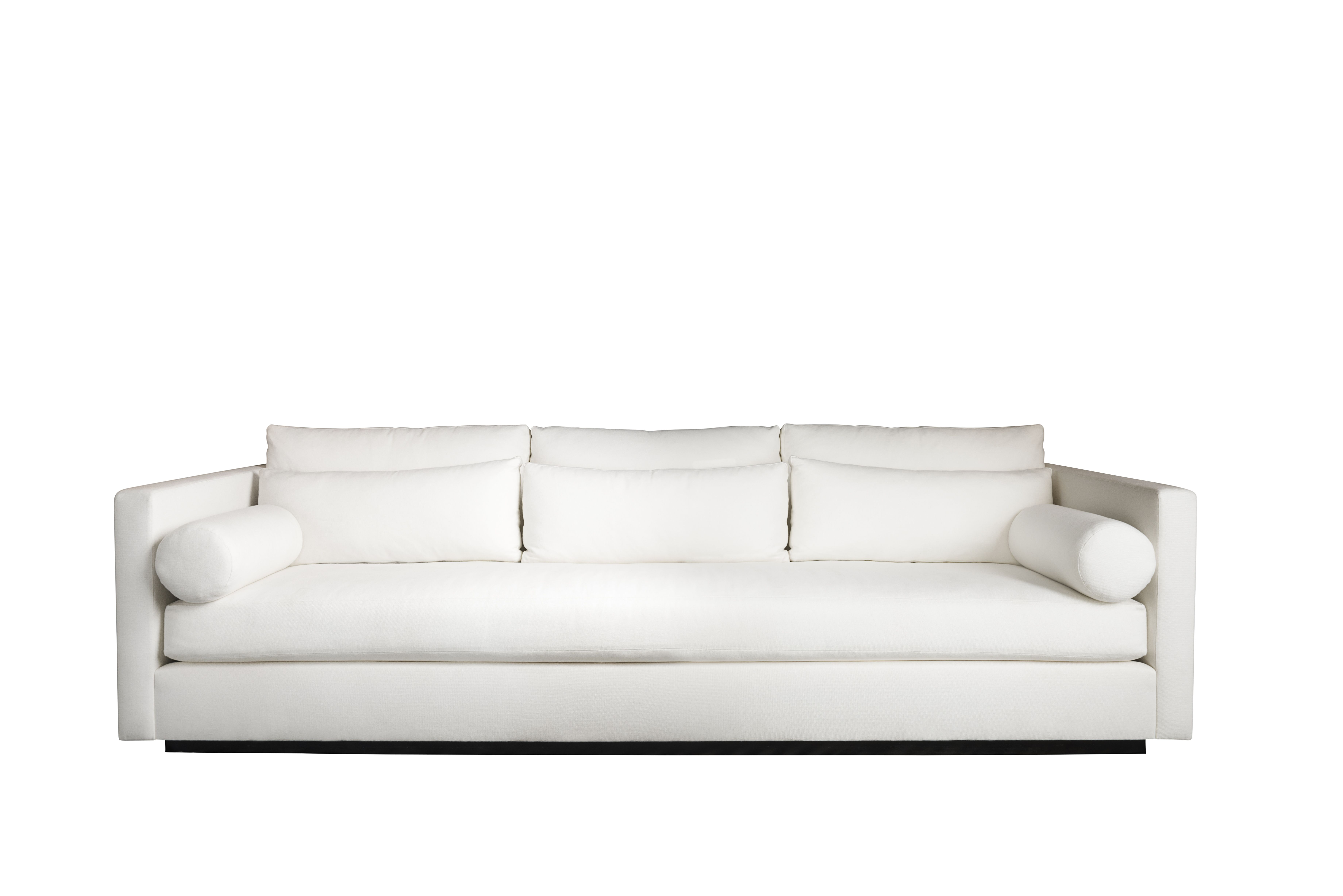 our meridian sofa floating on recessed wood base please inquire for rh pinterest co uk