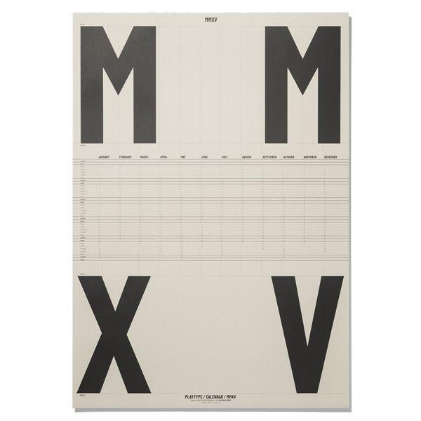 Playtypen graafinen julistekalenteri vuodelle 2015. Juliste on offset-painettu 120 g päällystämättömälle paperille.