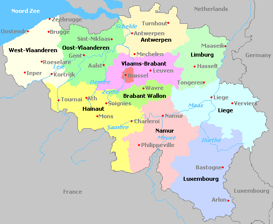 Mapas da Blgica Belgium map and Belgium