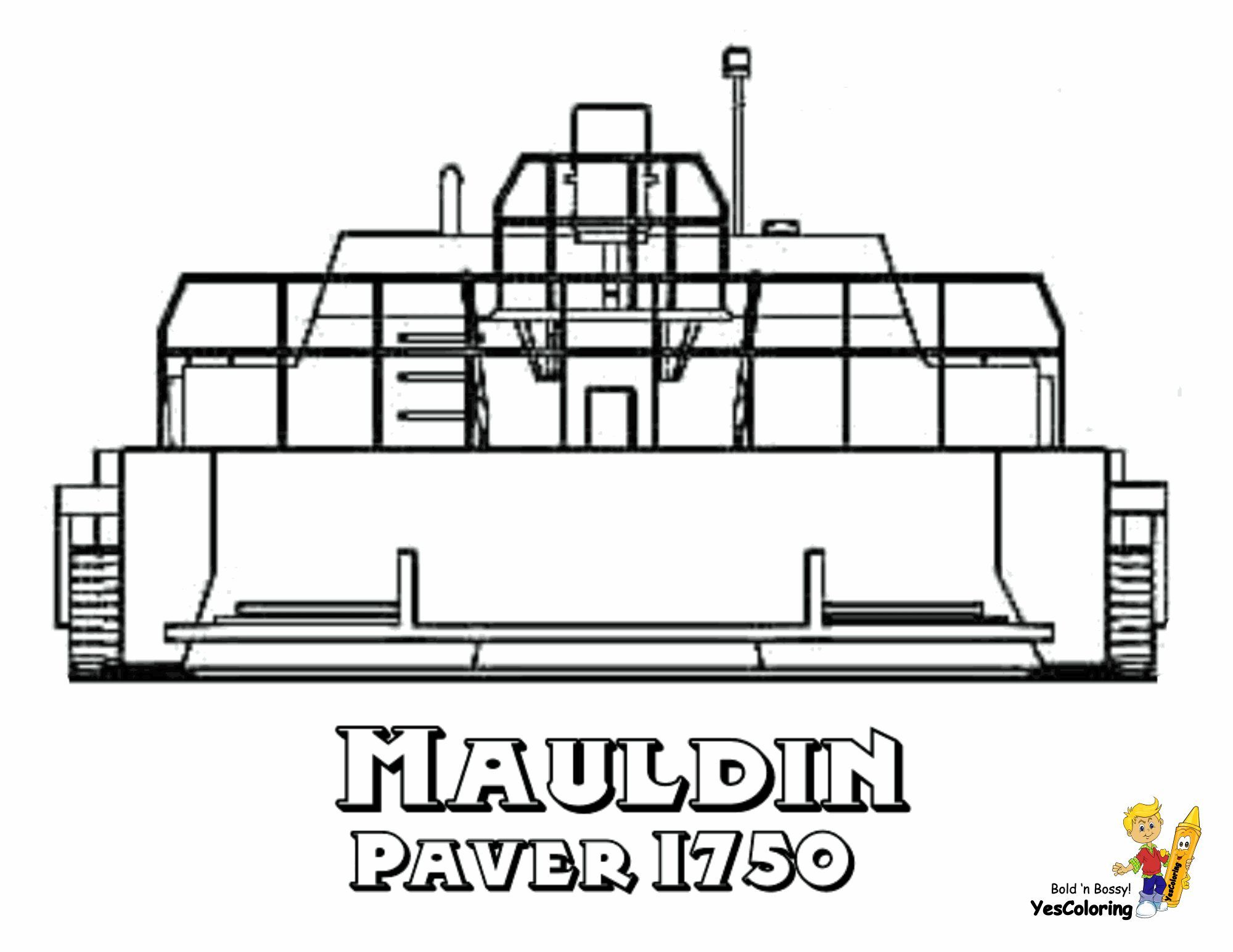 Print Out This Cool Highway Construction Vehicles! Mauldin