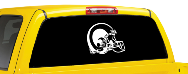 Los angeles rams inspired window car decal sport team inspired car decal ebay