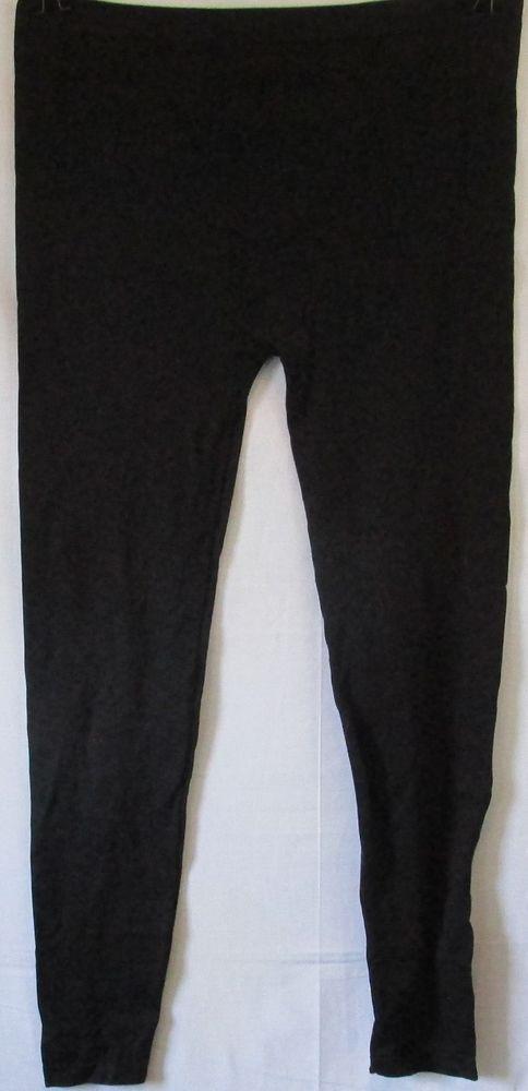 92da8df66ea Feather Black Stretchy Leggings Size 2x 3x  Feather